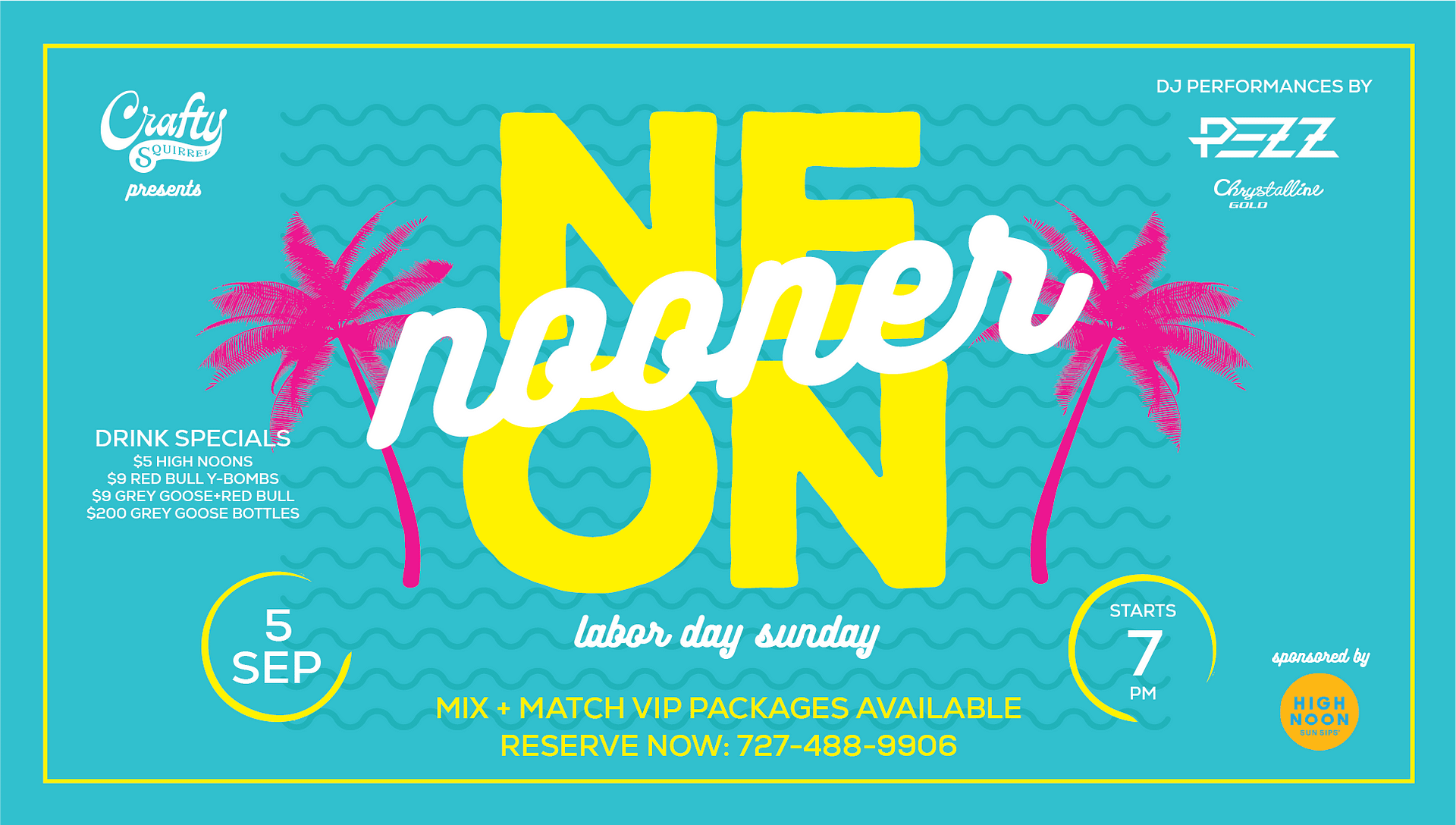 St. Pete Labor Day Sunday Party at the Crafty Squirrel